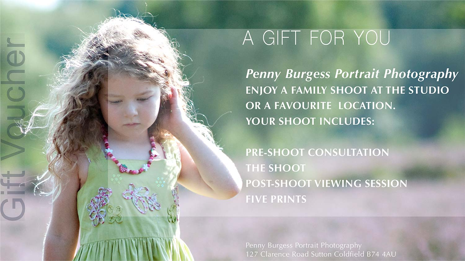 Photography Gift Vouchers - Penny Burgess Photography